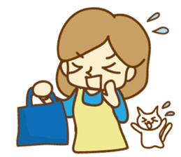 Fun life of women and cats sticker #1060603