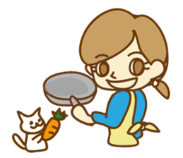 Fun life of women and cats sticker #1060604