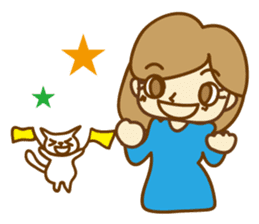 Fun life of women and cats sticker #1060605