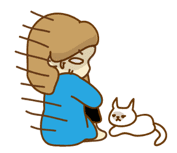 Fun life of women and cats sticker #1060613