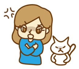 Fun life of women and cats sticker #1060614