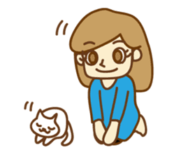 Fun life of women and cats sticker #1060615