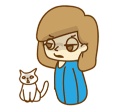 Fun life of women and cats sticker #1060617