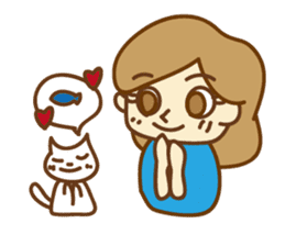 Fun life of women and cats sticker #1060623
