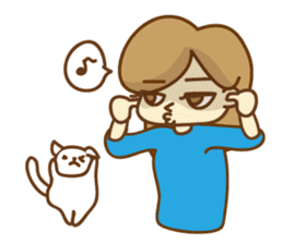 Fun life of women and cats sticker #1060628