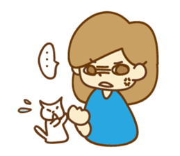 Fun life of women and cats sticker #1060638