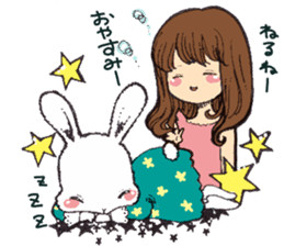 Rabbit Dreaming! sticker #1060796