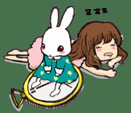 Rabbit Dreaming! sticker #1060797