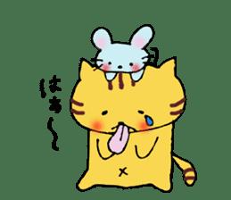Nyanko tongue of talking like. sticker #1061008