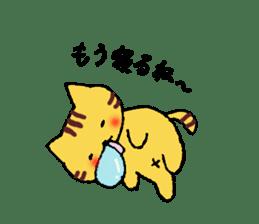 Nyanko tongue of talking like. sticker #1061019