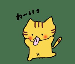 Nyanko tongue of talking like. sticker #1061023