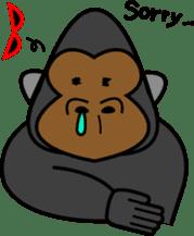 Boss-Subordinate Relationship of Monkey sticker #1061670