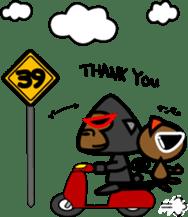 Boss-Subordinate Relationship of Monkey sticker #1061679