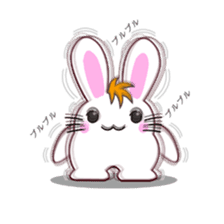 I am Raddy.Mixed of cat and rabbit. sticker #1062282