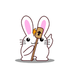 I am Raddy.Mixed of cat and rabbit. sticker #1062289