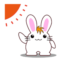 I am Raddy.Mixed of cat and rabbit. sticker #1062308