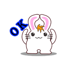 I am Raddy.Mixed of cat and rabbit. sticker #1062310