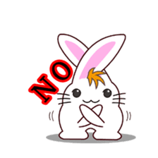 I am Raddy.Mixed of cat and rabbit. sticker #1062311