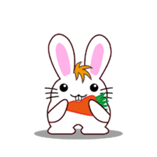 I am Raddy.Mixed of cat and rabbit. sticker #1062319