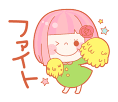 Lively flower girls sticker #1062405