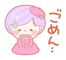 Lively flower girls sticker #1062410