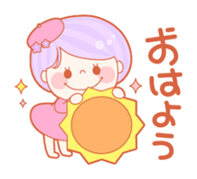 Lively flower girls sticker #1062413