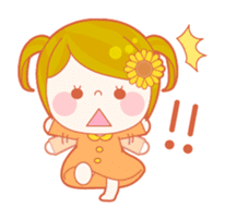Lively flower girls sticker #1062421