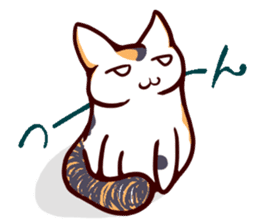 Tortoiseshell cat MII sticker #1062699