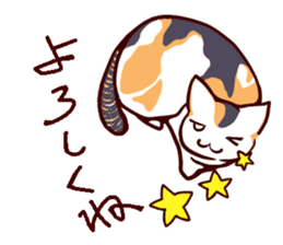 Tortoiseshell cat MII sticker #1062716