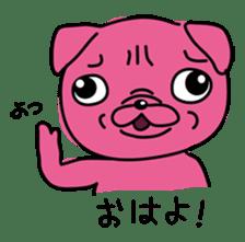 Pink Pug sticker #1063163