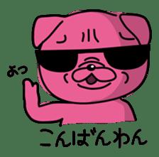 Pink Pug sticker #1063164