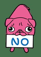 Pink Pug sticker #1063168