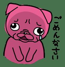 Pink Pug sticker #1063170
