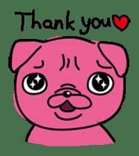 Pink Pug sticker #1063171