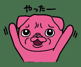 Pink Pug sticker #1063172