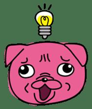 Pink Pug sticker #1063177