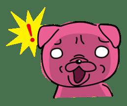 Pink Pug sticker #1063184