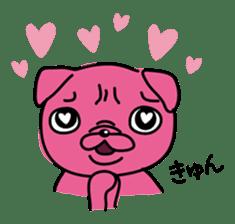 Pink Pug sticker #1063187
