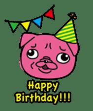 Pink Pug sticker #1063192