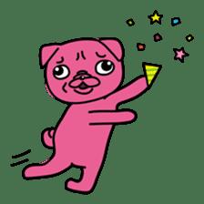 Pink Pug sticker #1063193