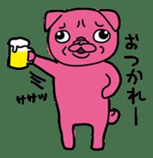 Pink Pug sticker #1063194