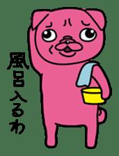 Pink Pug sticker #1063195