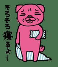Pink Pug sticker #1063196