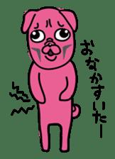 Pink Pug sticker #1063200