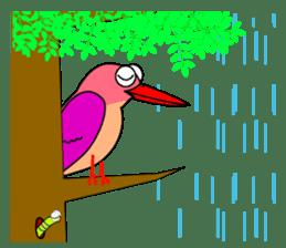 Island bird ruddy Kingfisher, KIRORON sticker #1063202