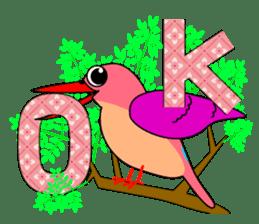 Island bird ruddy Kingfisher, KIRORON sticker #1063204