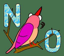 Island bird ruddy Kingfisher, KIRORON sticker #1063205