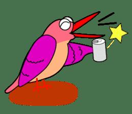 Island bird ruddy Kingfisher, KIRORON sticker #1063211