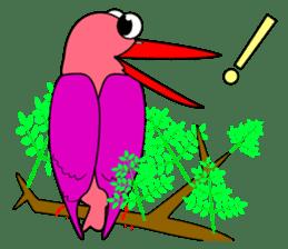 Island bird ruddy Kingfisher, KIRORON sticker #1063214
