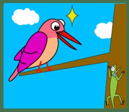 Island bird ruddy Kingfisher, KIRORON sticker #1063218